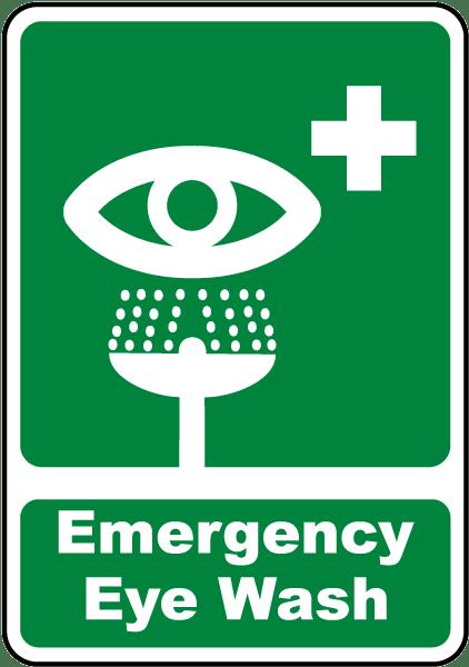 Emergency Eye Wash Sign