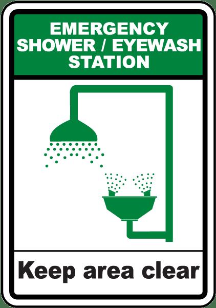 Shower / Eyewash Station Sign