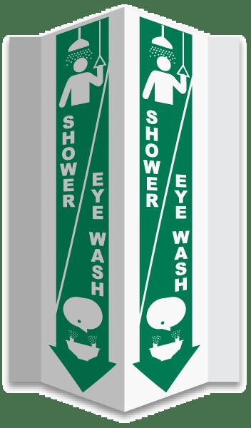 3-Way Shower / Eye Wash Sign