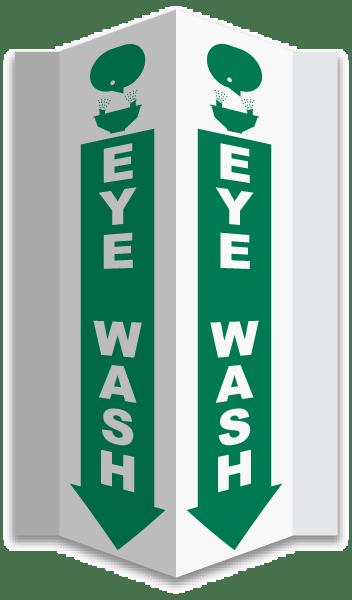 3-Way Eye Wash Sign