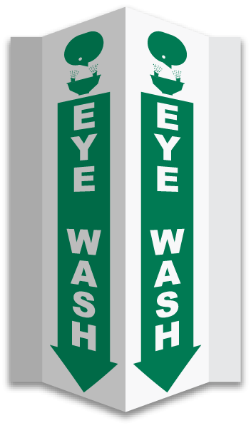 3-Way Eye Wash Sign