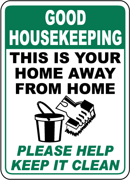 Please Help Keep It Clean Sign
