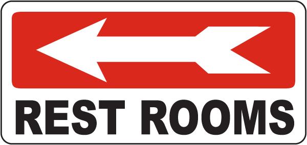 Bathroom Signs With Arrows bathroom etiquette signs, bathroom signs, restroom etiquette signs