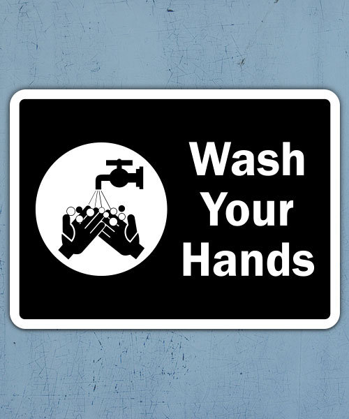 Wash Your Hands Label