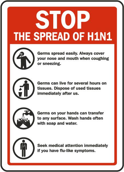 Stop The Spread of Swine Flu Label