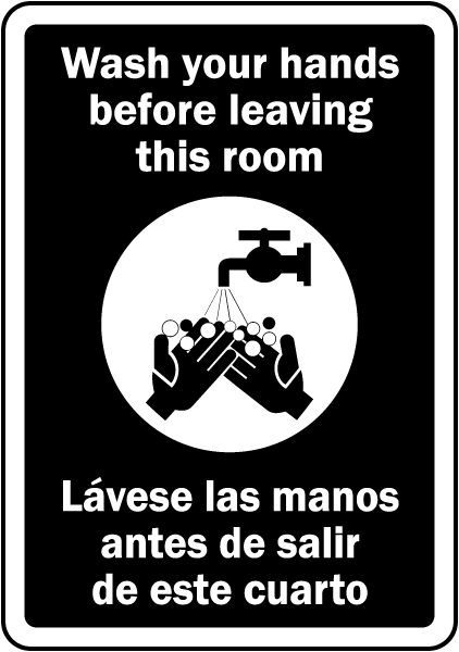 Bilingual Wash Your Hands Sign