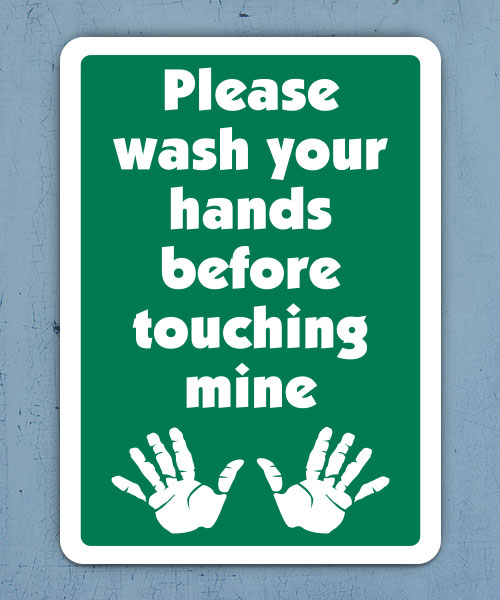 Please Wash Your Hands Label