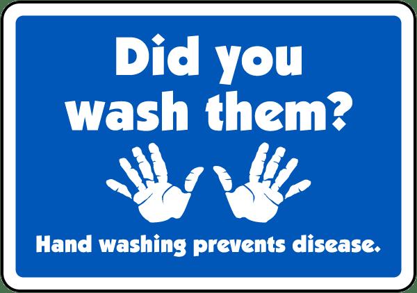 Did You Wash Them Label