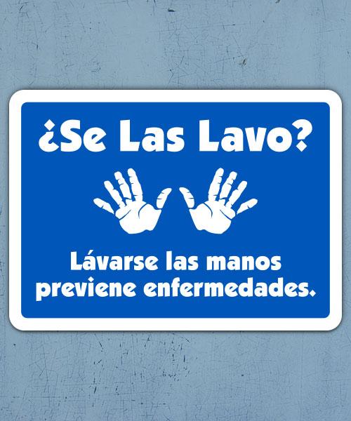 Spanish Did You Wash Them Label