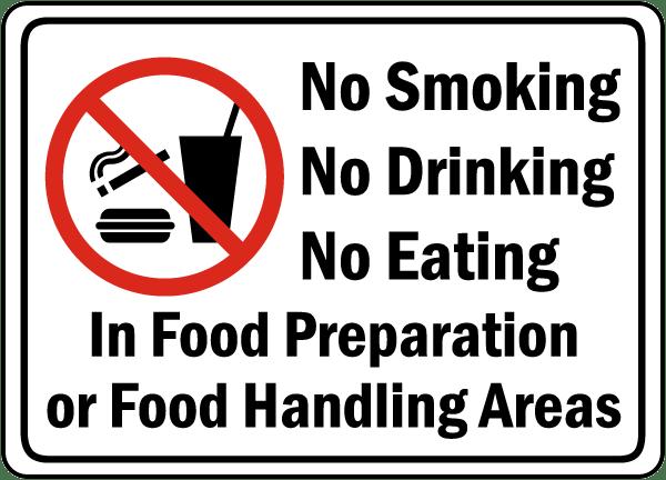 Food Preparation Handling Areas Sign