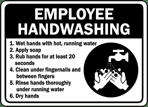 Employee Handwashing Label