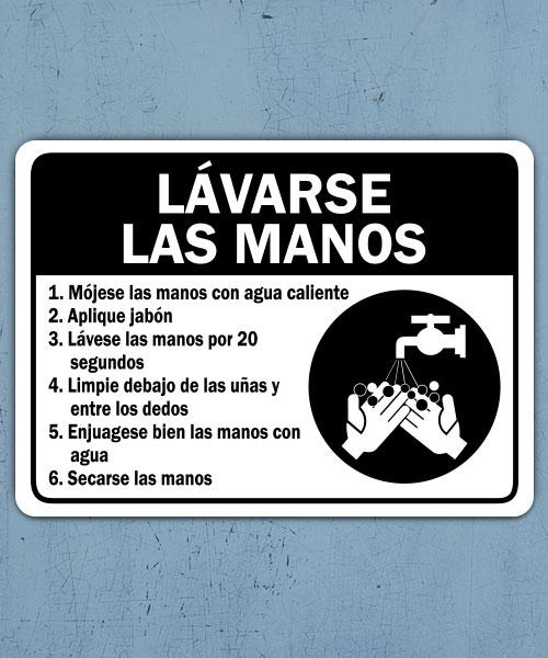 Spanish Employee Handwashing Label
