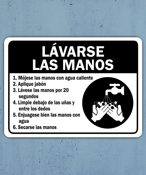 Spanish Employee Handwashing Sign