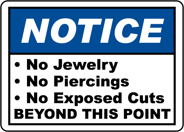 Notice Food Handling Rules Sign