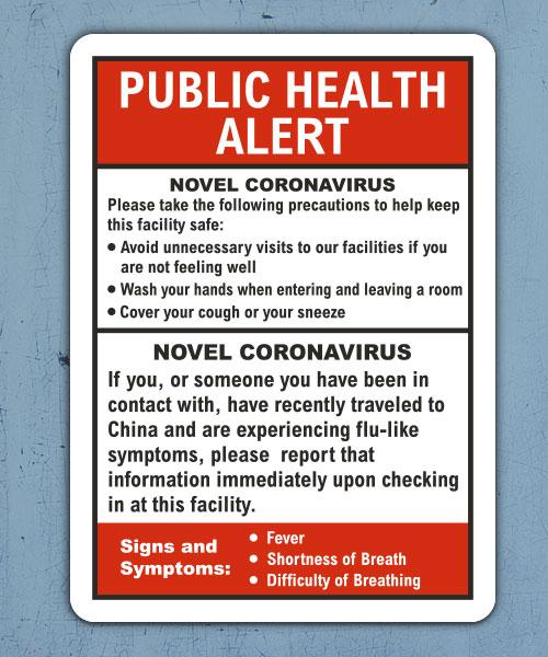 Public Health Alert Sign