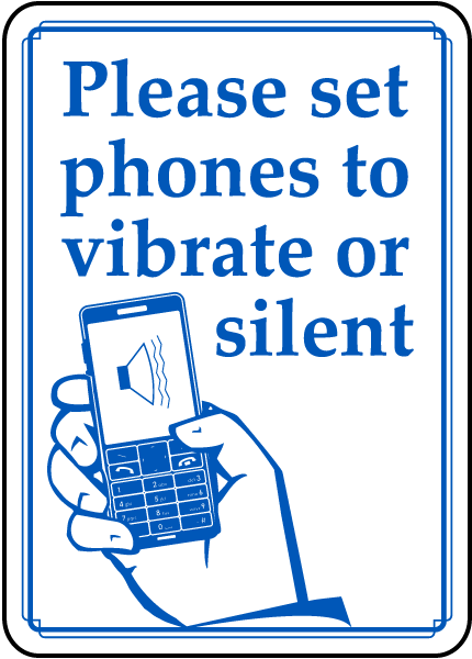 Set Phones To Vibrate or Silent Sign