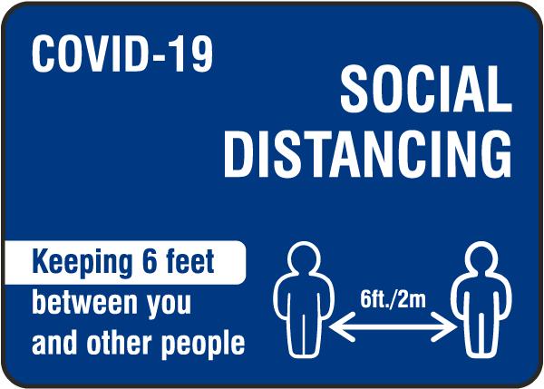 Covid-19 Social Distancing Sign