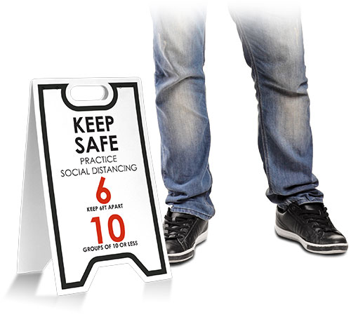 Keep Safe Practice Social Distancing Floor Stand