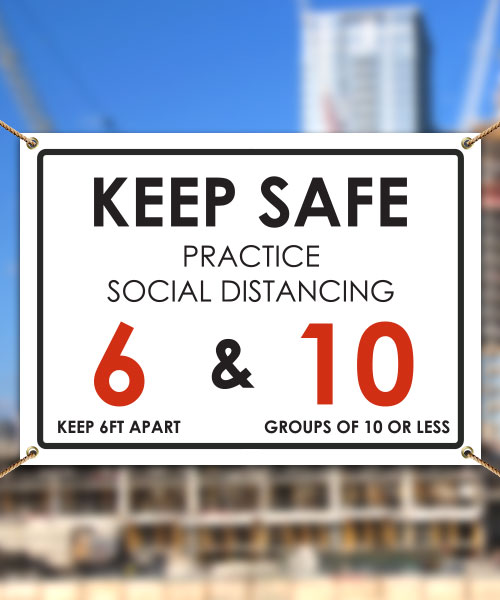 Keep Safe Practice Social Distancing Banner