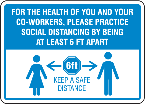 Practice Social Distancing Sign