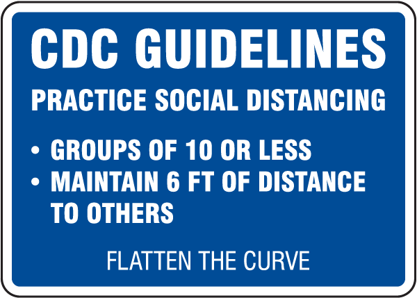 CDC Guidelines Sign
