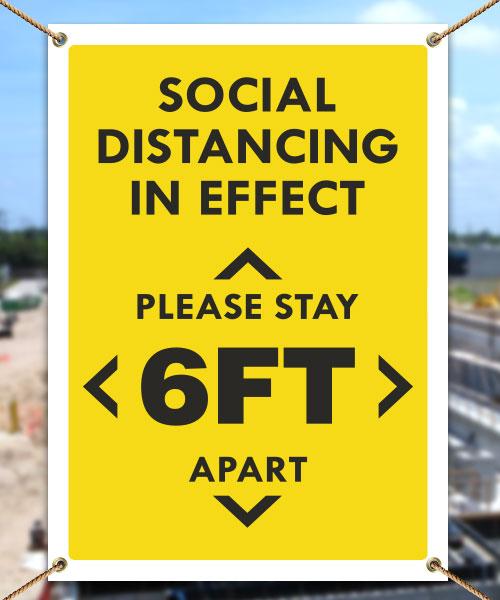 Social Distancing in Effect Banner