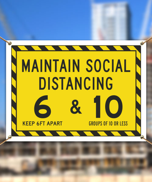Maintain Social Distancing Banner