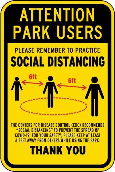 Attention Park Users Sign