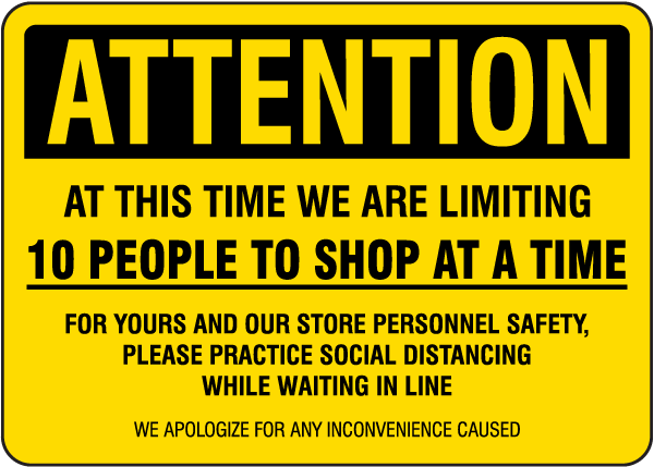 10 People to Shop Sign