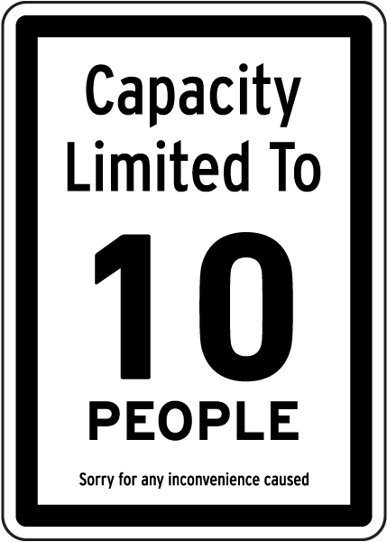 Capacity Limited Sign D6086, by SafetySign.com