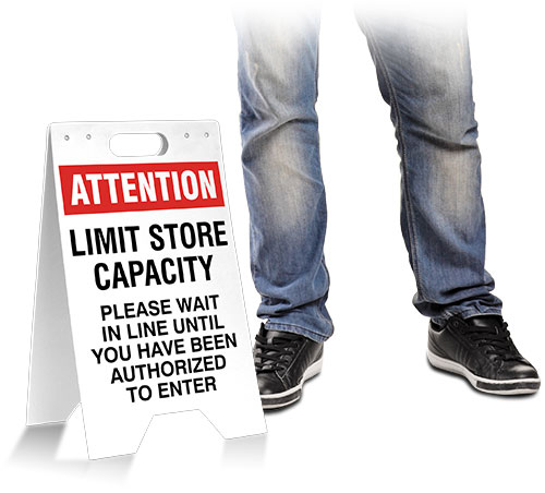 Attention Limit Store Capacity Floor Stand