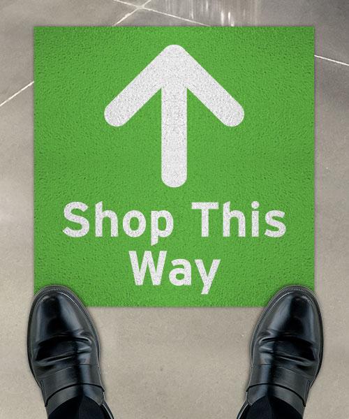 Shop This Way Floor Sign