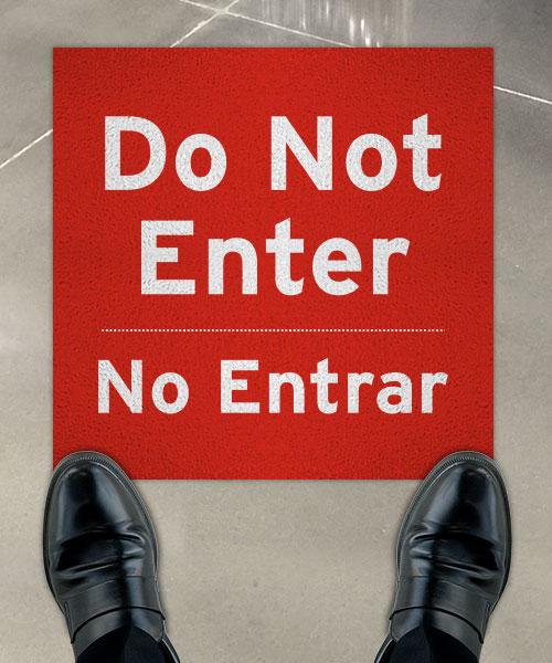 Bilingual Do Not Enter Floor Sign
