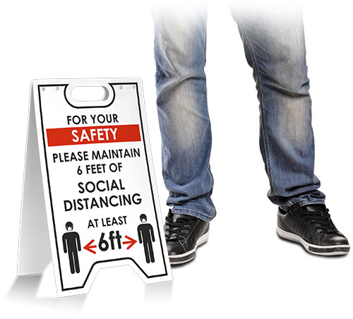 For Your Safety Maintain Social Distancing Floor Stand