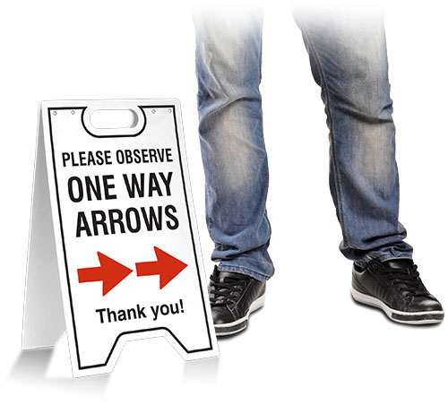 One Way Right Arrow Floor Stand