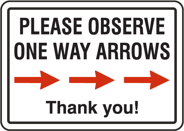 One Way Right Arrow Sign