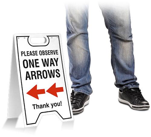 One Way Left Arrow Floor Stand