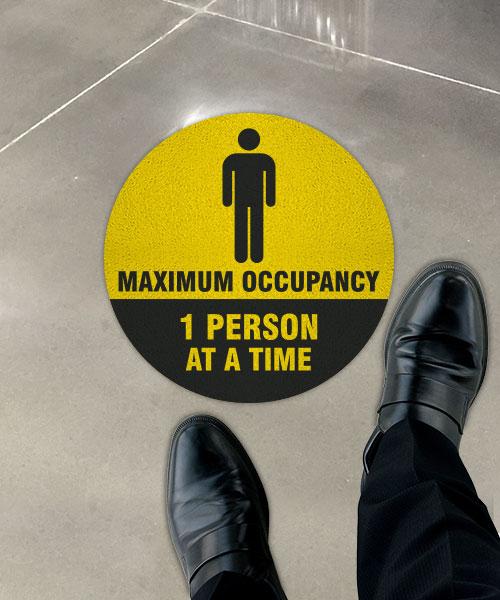 One Person Maximum Occupancy Floor Sign