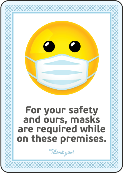 Mask Required While on Premises Sign