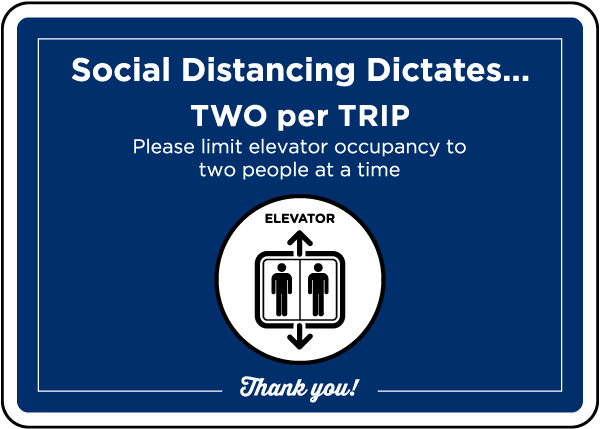 Elevator Occupancy Sign