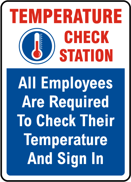 Temperature Check Station Sign