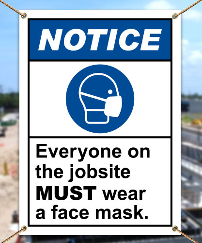 Notice Wear A Face Mask Banner