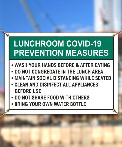 Lunchroom COVID-19 Prevention Measures Banner