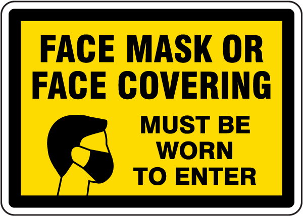 Face Mask Covering Sign