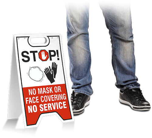 No Mask Or Face Covering No Service Floor Stand