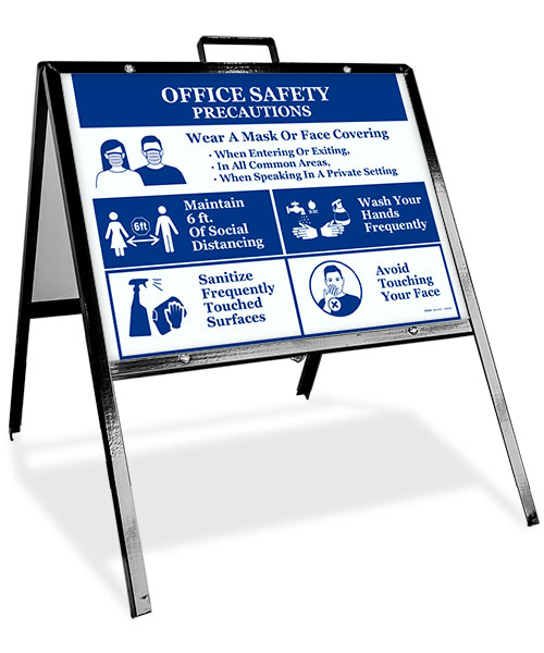 Office Safety Precautions Sandwich Board Sign
