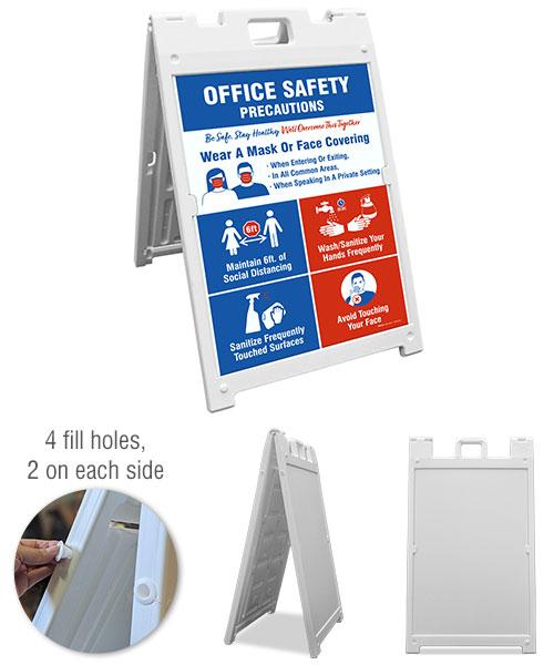 Office Safety Precautions Sidewalk Sign