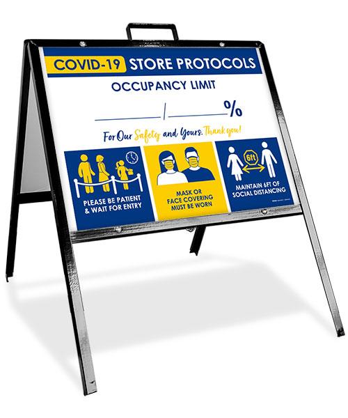 COVID-19 Store Occupancy Percentage Sandwich Board Sign