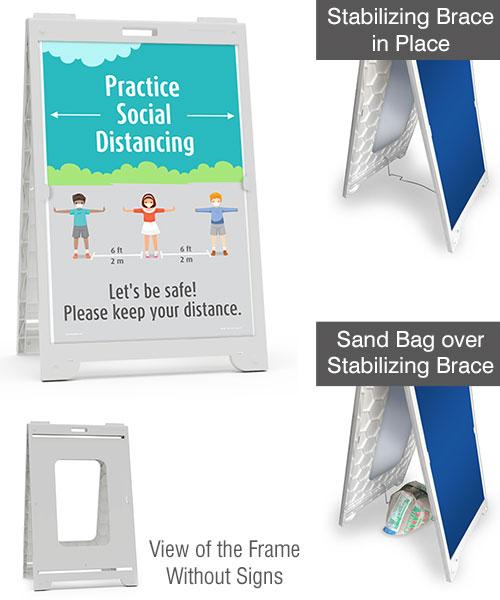 Practice Social Distancing School Sandwich Board Sign