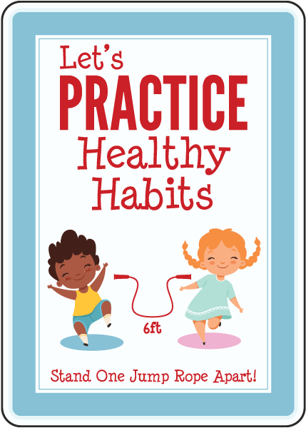 Let'S Practice Healthy Habits Sign